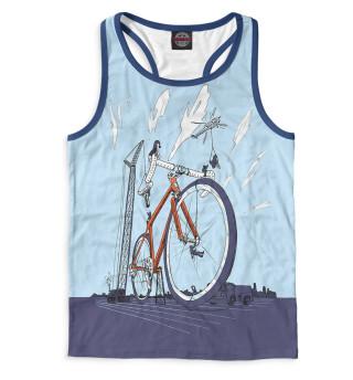 Майка борцовка мужская Строительство велосипеда
