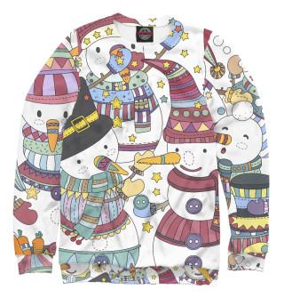 Одежда с принтом Снеговички