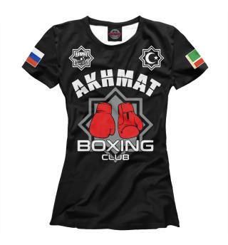 Футболка женская Akhmat Boxing Club