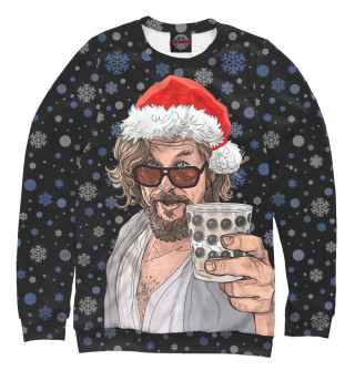 Одежда с принтом Лебовски Санта