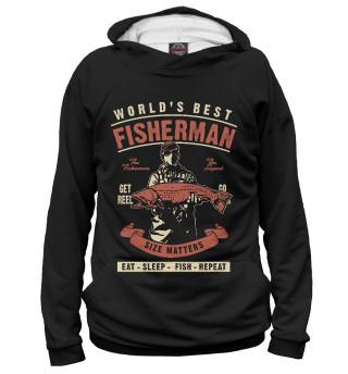 Худи для мальчиков Лучший в мире рыбак