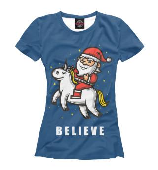 Футболка женская Believe!