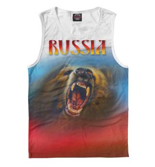 Майка мужская Русский медведь.