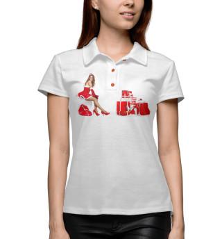 Поло женское Снегурочка с подарками