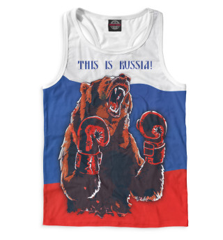 Майка борцовка мужская Медведь-боксер