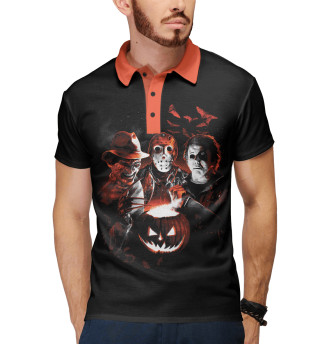 Поло мужское Halloween Horror Team