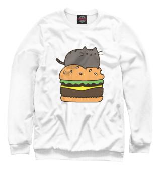 Одежда с принтом Кот и бургер