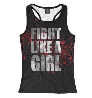 Майка борцовка женская Fight like a Girl (7082)