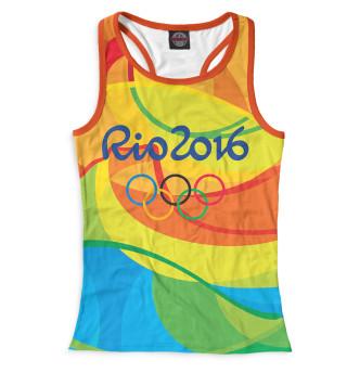 Майка борцовка женская Олимпиада Рио-2016
