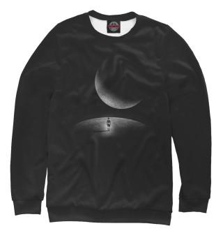 Одежда с принтом Человек и луна