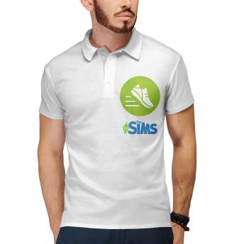 Поло мужское The Sims Фитнес