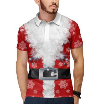 Поло мужское Дед мороз (2492)