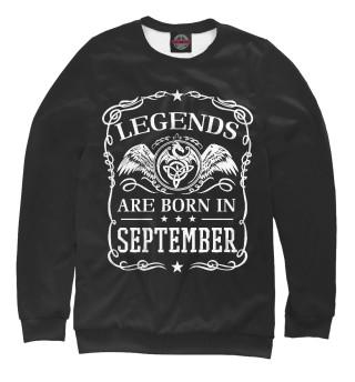 Одежда с принтом Легенды рождаются в сентябре (391260)