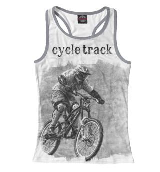Майка борцовка женская Велосипедист