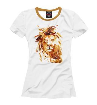 Футболка женская Золотой лев