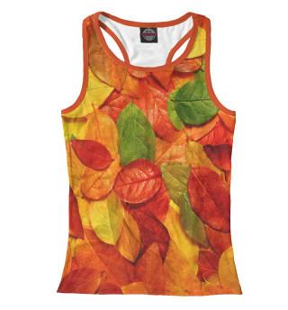 Майка борцовка женская Осенние листья (9689)