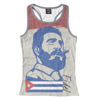 Майка борцовка женская Фидель Кастро - Куба