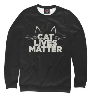 Одежда с принтом Cat Lives Matter