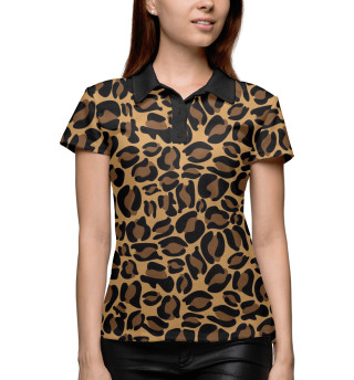 Поло женское Леопардовый окрас