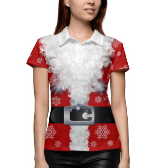 Поло женское Дед мороз (117)