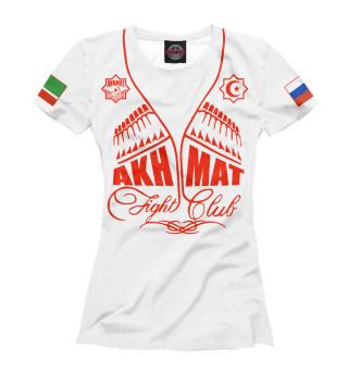 Футболка женская Fight Club Akhmat White