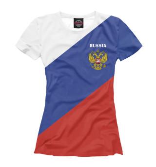 Футболка женская Триколор России