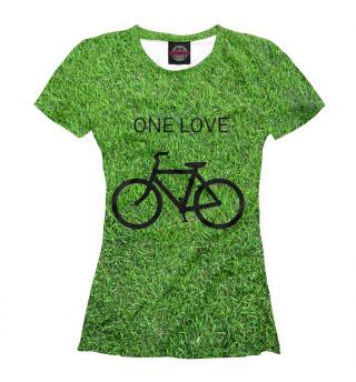 Футболка женская Велосипед одна любовь