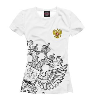 Футболка женская Герб России (7822)