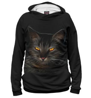 Худи женское таинственный кот