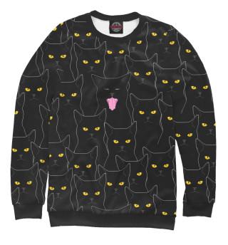 Одежда с принтом Черные Коты