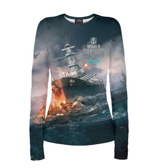 Лонгслив  женский World of Warships (9693)