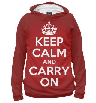 Худи женское Keep calm and carry on