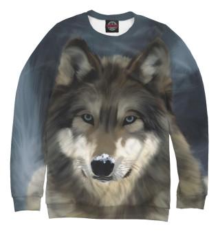 Одежда с принтом Картинка волк