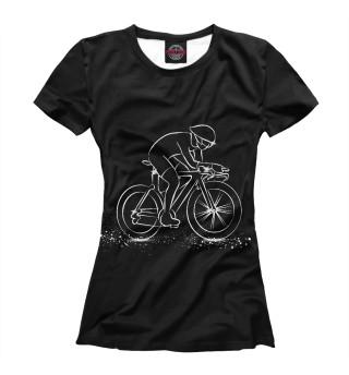 Футболка женская Велоспорт (7142)