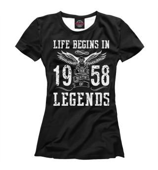 Футболка женская 1958 - рождение легенды
