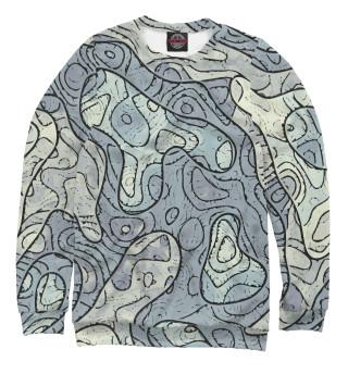 Одежда с принтом Маркшейдер. Топология местности- карта высот