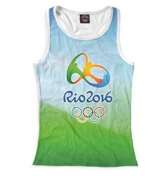 Майка борцовка женская Олимпиада Рио-2016 (3864)