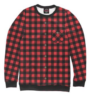 Одежда с принтом Красная рубашка в клетку