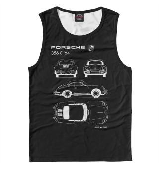 Майка мужская Porsche 356 C '64 (6412)