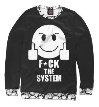 Одежда с принтом Fuck the System