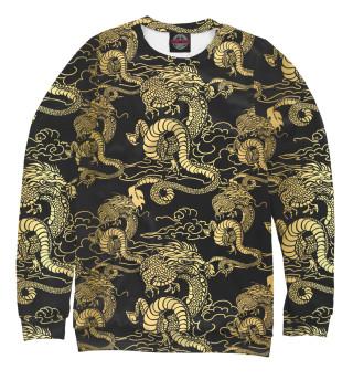 Одежда с принтом Золотые драконы