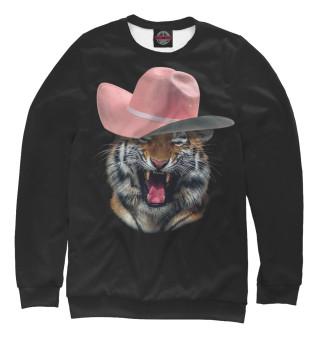 Одежда с принтом Тигр в шляпе