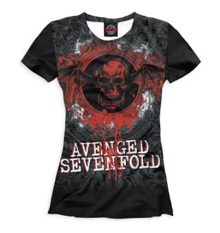 Футболка женская Avenged Sevenfold (8040)