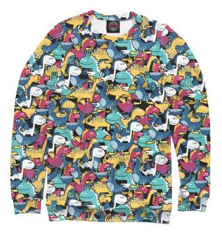 Одежда с принтом Мультяшные динозавры