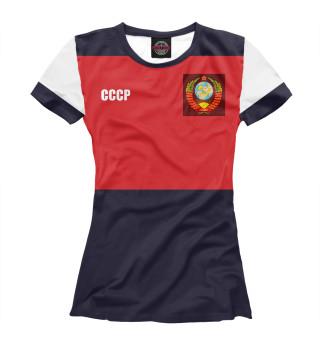 Футболка женская Олимпийка СССР