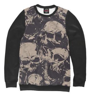 Одежда с принтом Grey Skulls