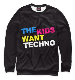 Одежда с принтом I Love Techno (223848)