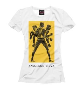 Футболка женская Андерсон Сильва (9560)