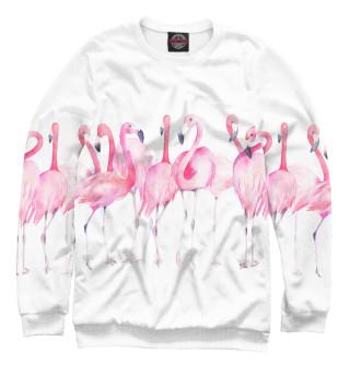 Одежда с принтом Фламинго