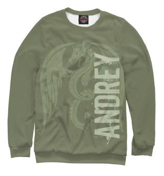 Одежда с принтом Андрей и дракон